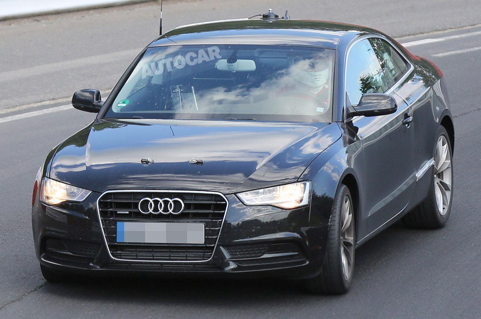 Шпионское фото Audi A5 Coupe нового поколения