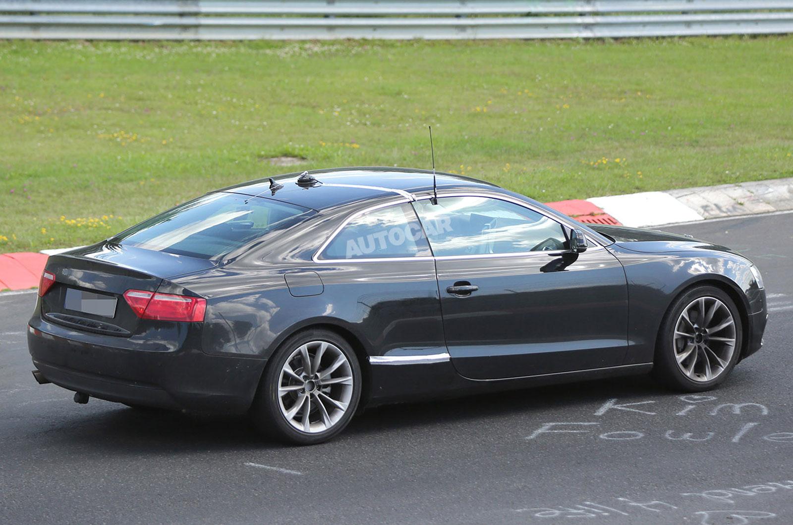 Новая Audi A5 Coupe на дорожных испытаниях. 2014 год