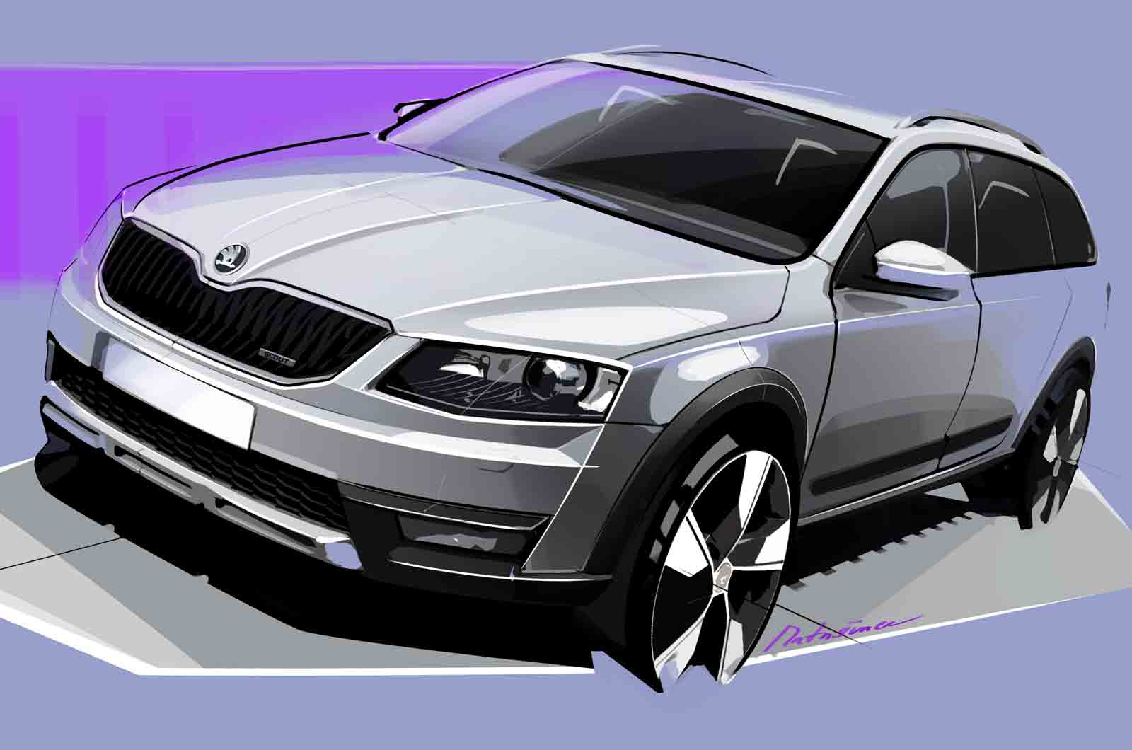 skoda octavia scout to launch in 2014 autocar. Black Bedroom Furniture Sets. Home Design Ideas