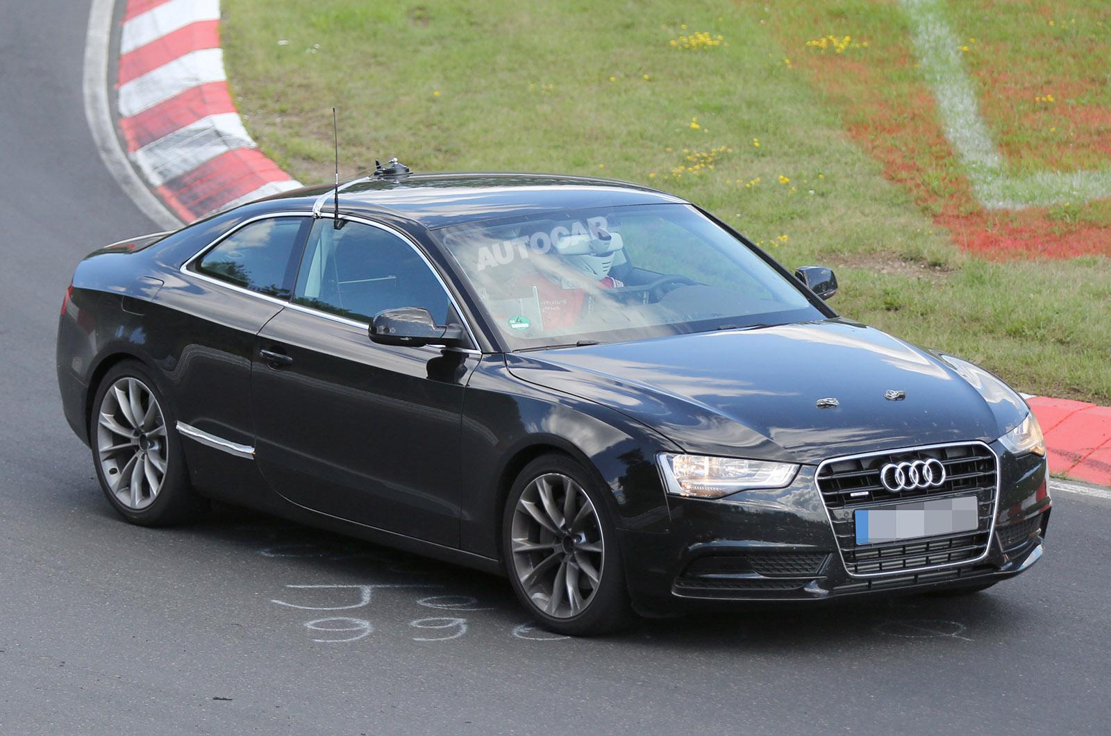 Шпионское фото Audi A5 Coupe второго поколения