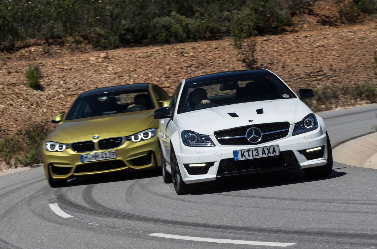 Comparison new bmw m4 vs mercedes benz c63 amg autocar for Mercedes benz vs bmw