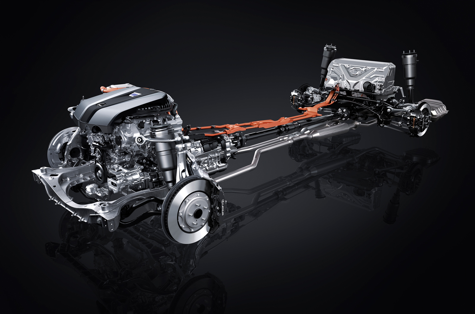 Lexus Ls 500h On Show In Geneva Autocar Power Plant Layout Arrangement Technical Illustrations The Systems Car With Powerplant Located At Front And Battery Pack Back