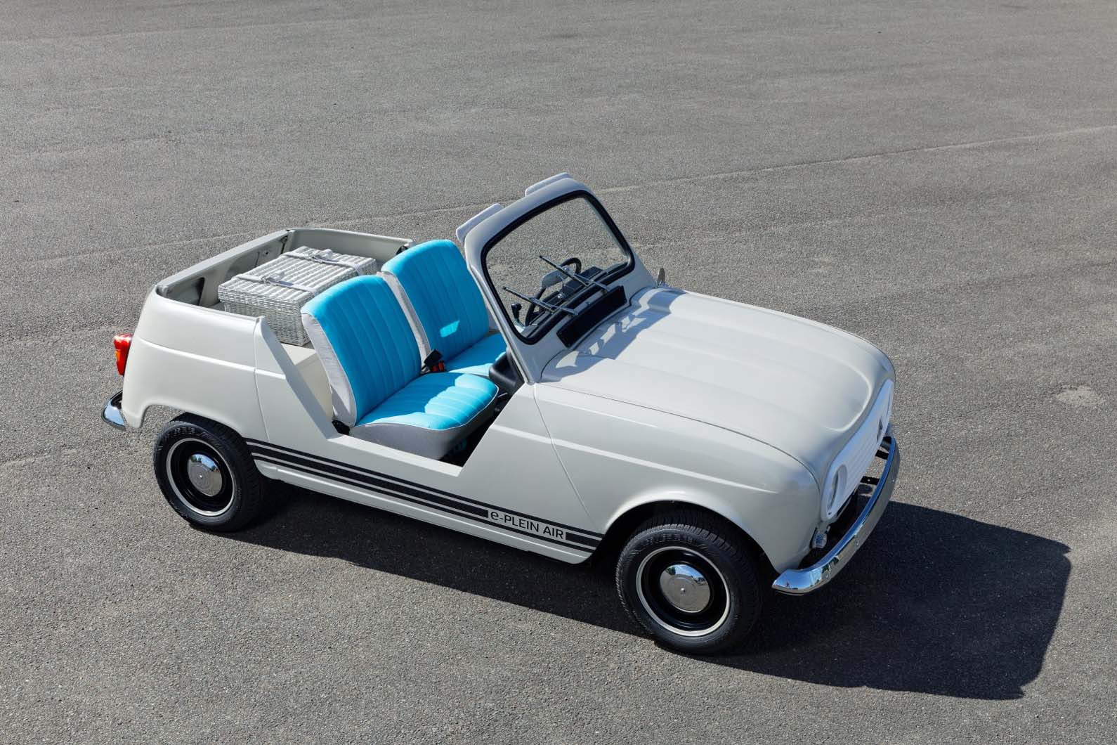 Renault Unveils Retro 4l Based Electric Convertible Autocar