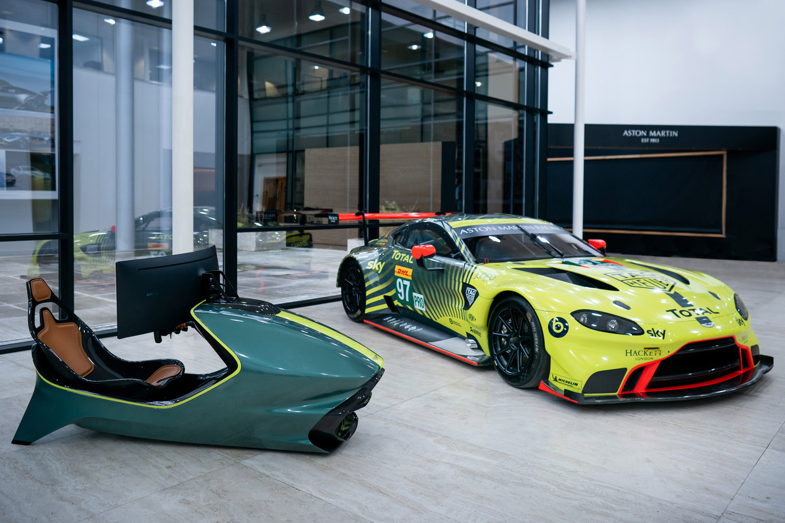 Testing Darren Turner's new Aston Martin simulator | Autocar