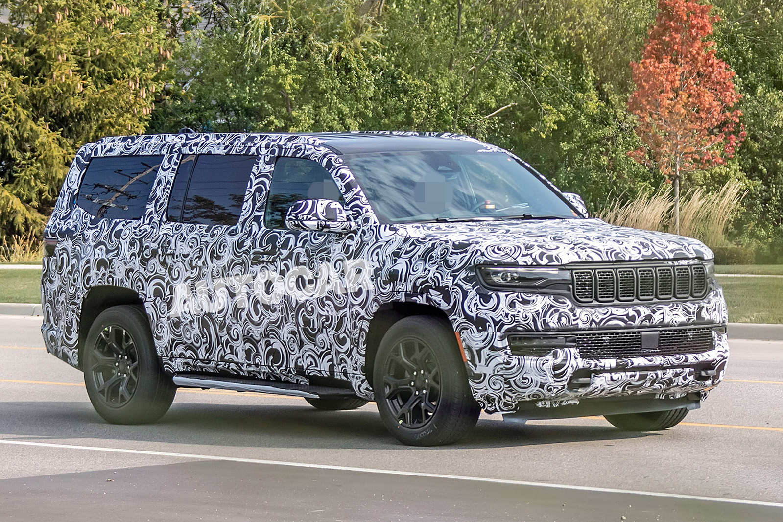 Jeep Grand Wagoneer 2021 Suv Seen In Near Production Form Autocar