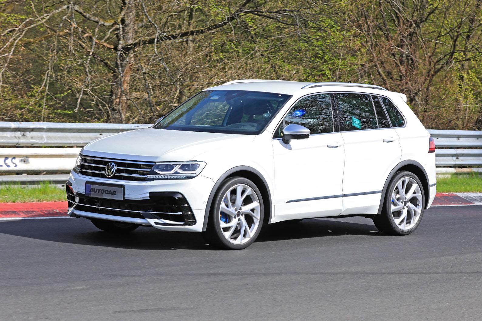 2020 Volkswagen Tiguan R Prototype Previews Suv S Facelift Autocar