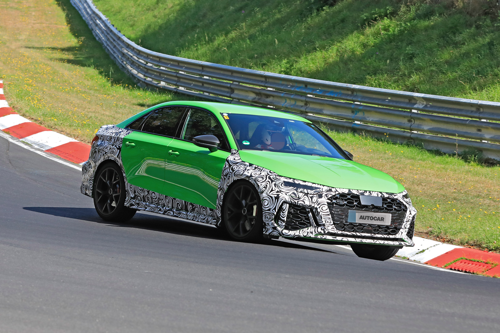 New Audi Rs3 Saloon 394bhp Amg A45 Rival Drops Disguise Autocar