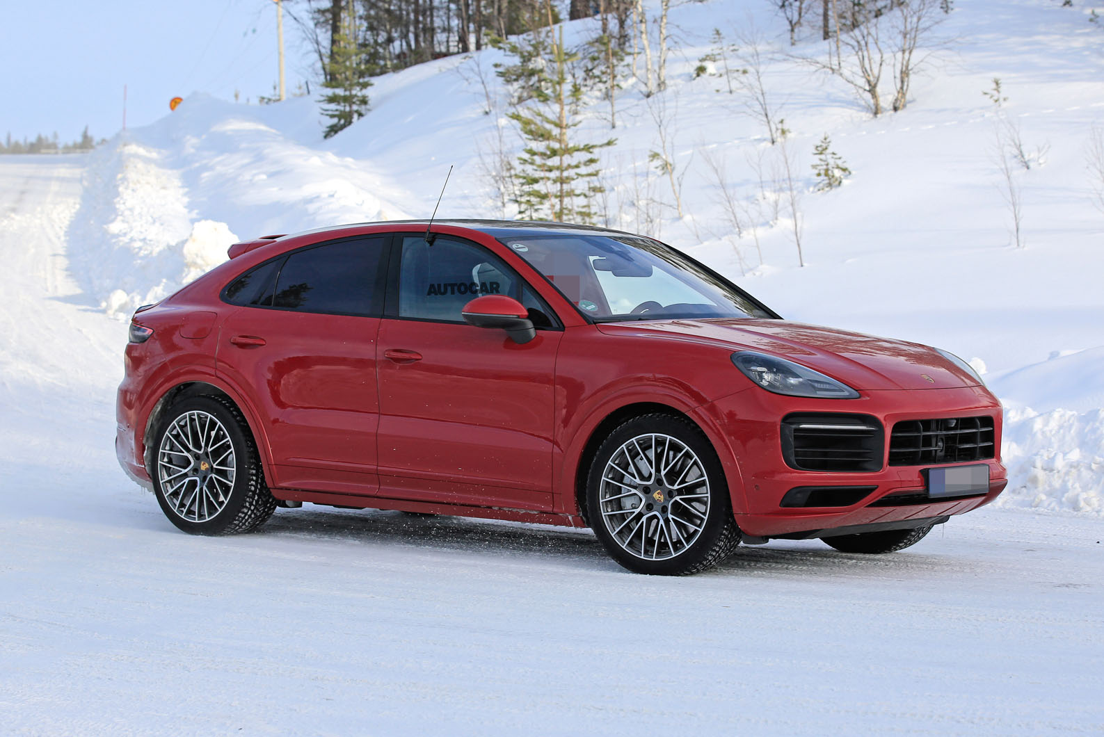 New Porsche Cayenne Coupe Gts Previewed In Spy Shots Autocar