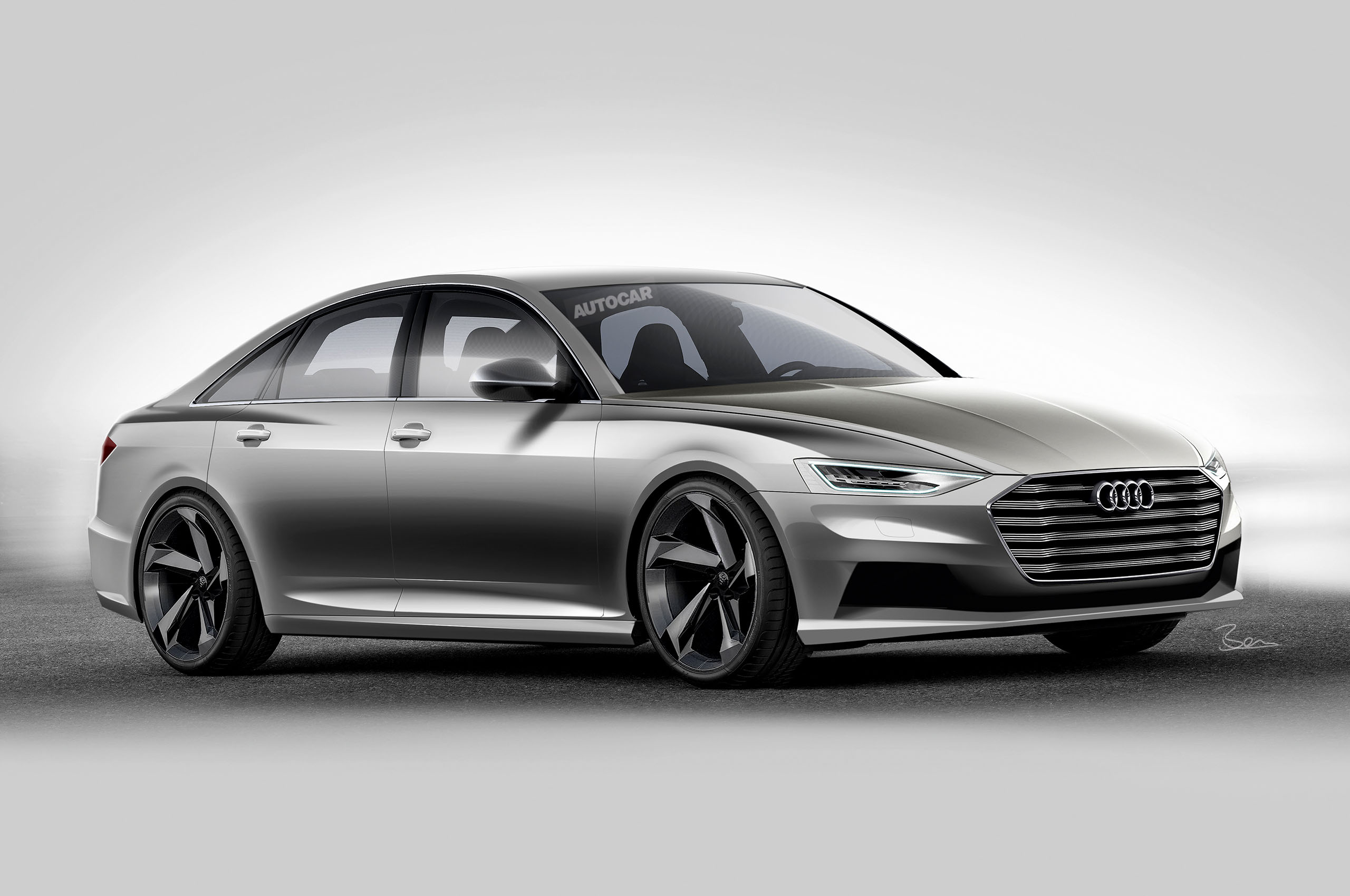 2017 Audi A6 to dramatic new look