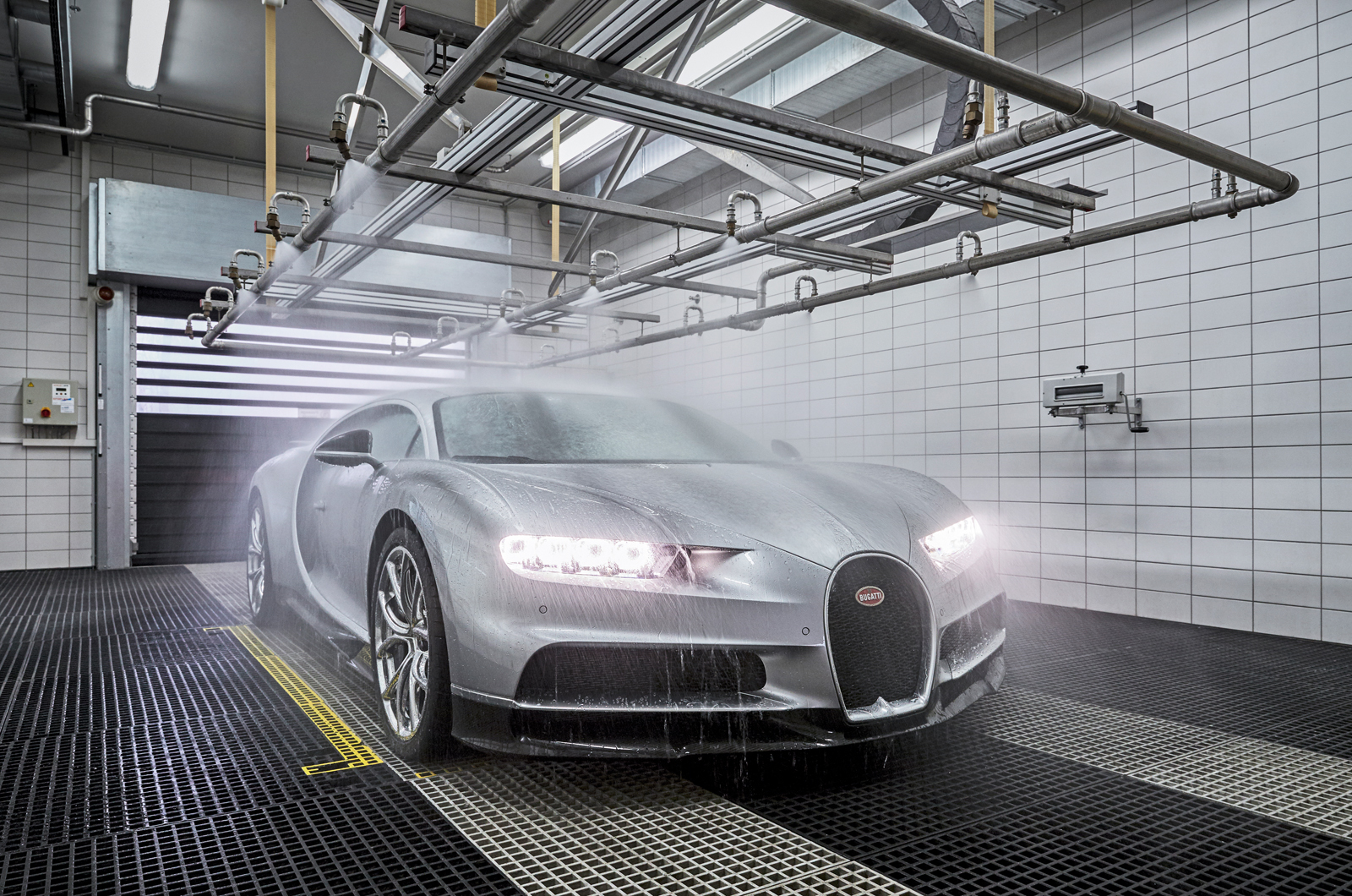 During The Water Test, The Chiron Is Exposed To Monsoon Rain For 30 Minutes  To Ensure There Are No Leaks.