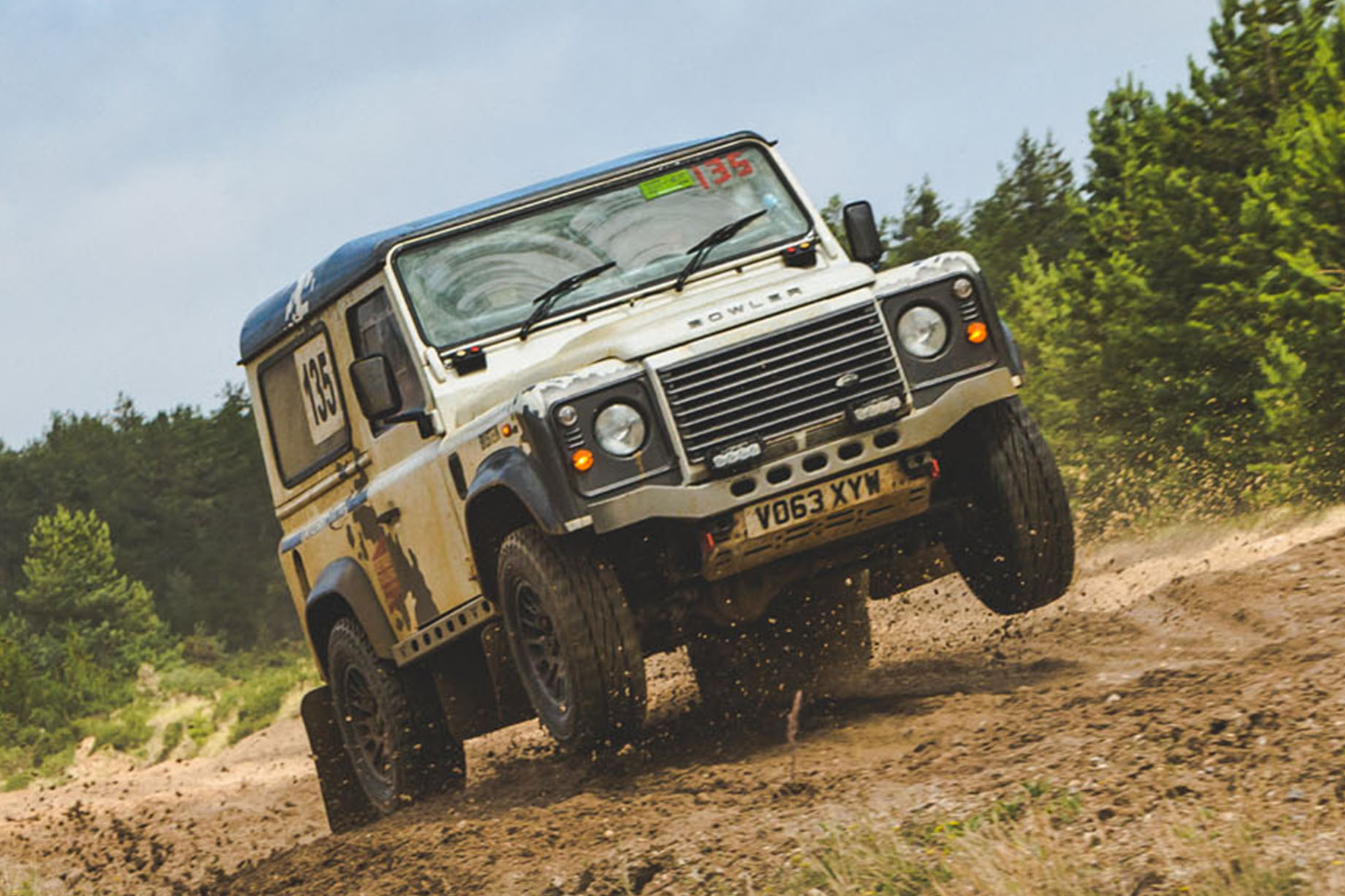 Dirt in our eyes: Cross-country rallying in a Bowler Defender Challenge