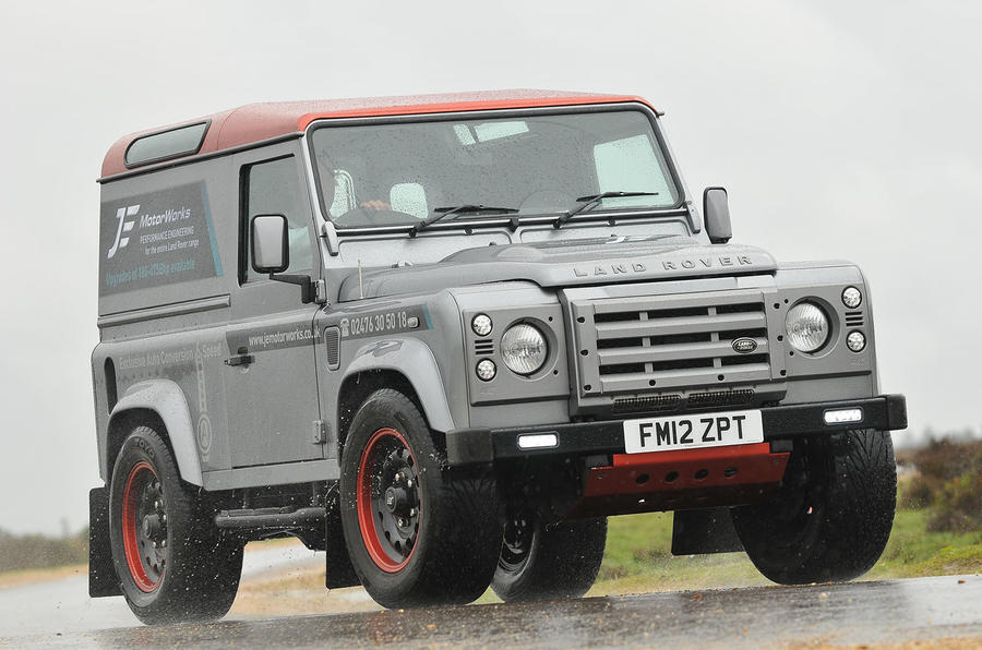 JE Motorworks converts Land Rover Defender to Ford Ecoboost power