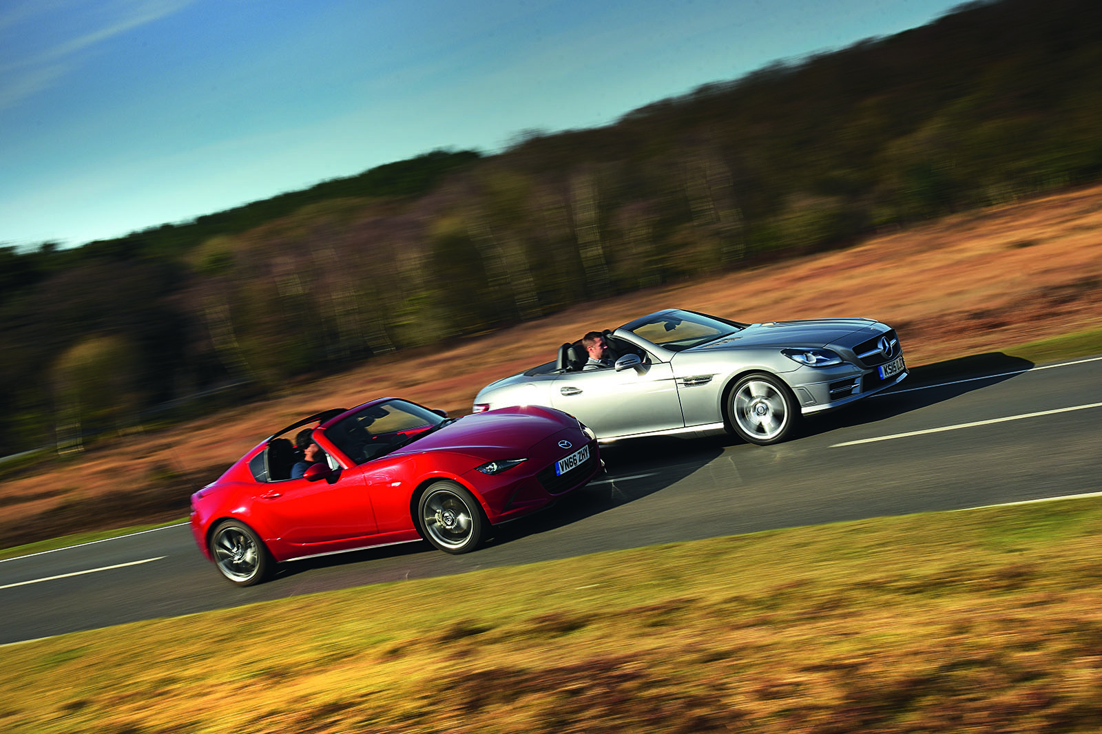 Mazda MX-5 RF vs used Mercedes-Benz SLK - which is best? | Autocar