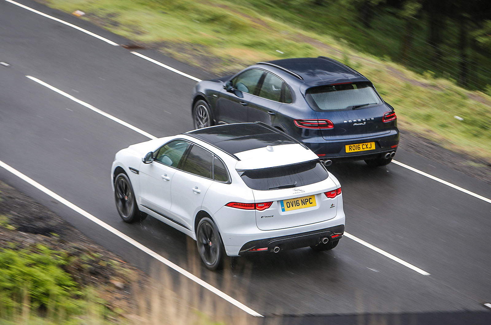 Jaguar F-Pace vs Porsche Macan - luxury SUVs compared | Autocar
