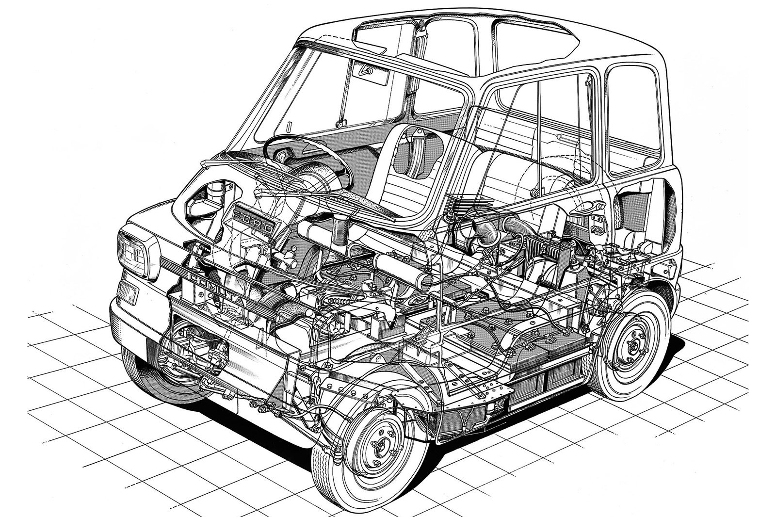 Throwback Thursday 1967 The Future Of Electric Cars And Ford Model T Engine Diagram Comuta Concept Autocar