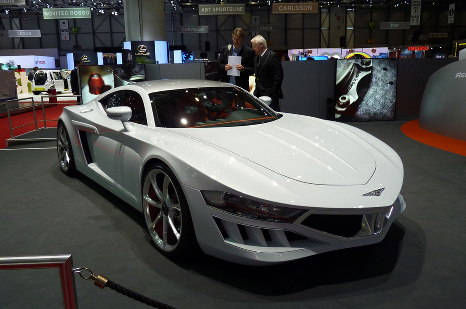Presented at the 2010 Geneva Motor Show, it was a heavily modified Audi R8 that was to be called X10V