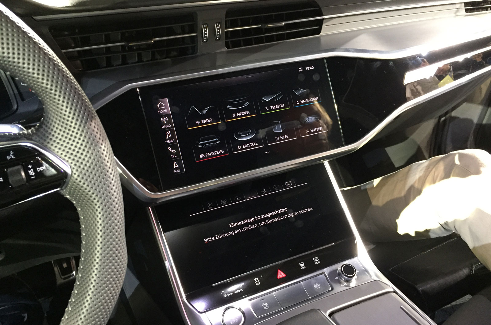 ... A7 Has Been Retained, Although Audi Says The Luggage Compartment Has  Been Redesigned For Improved Utilisation Of Space. The Rear Liftback Is  Manually ...