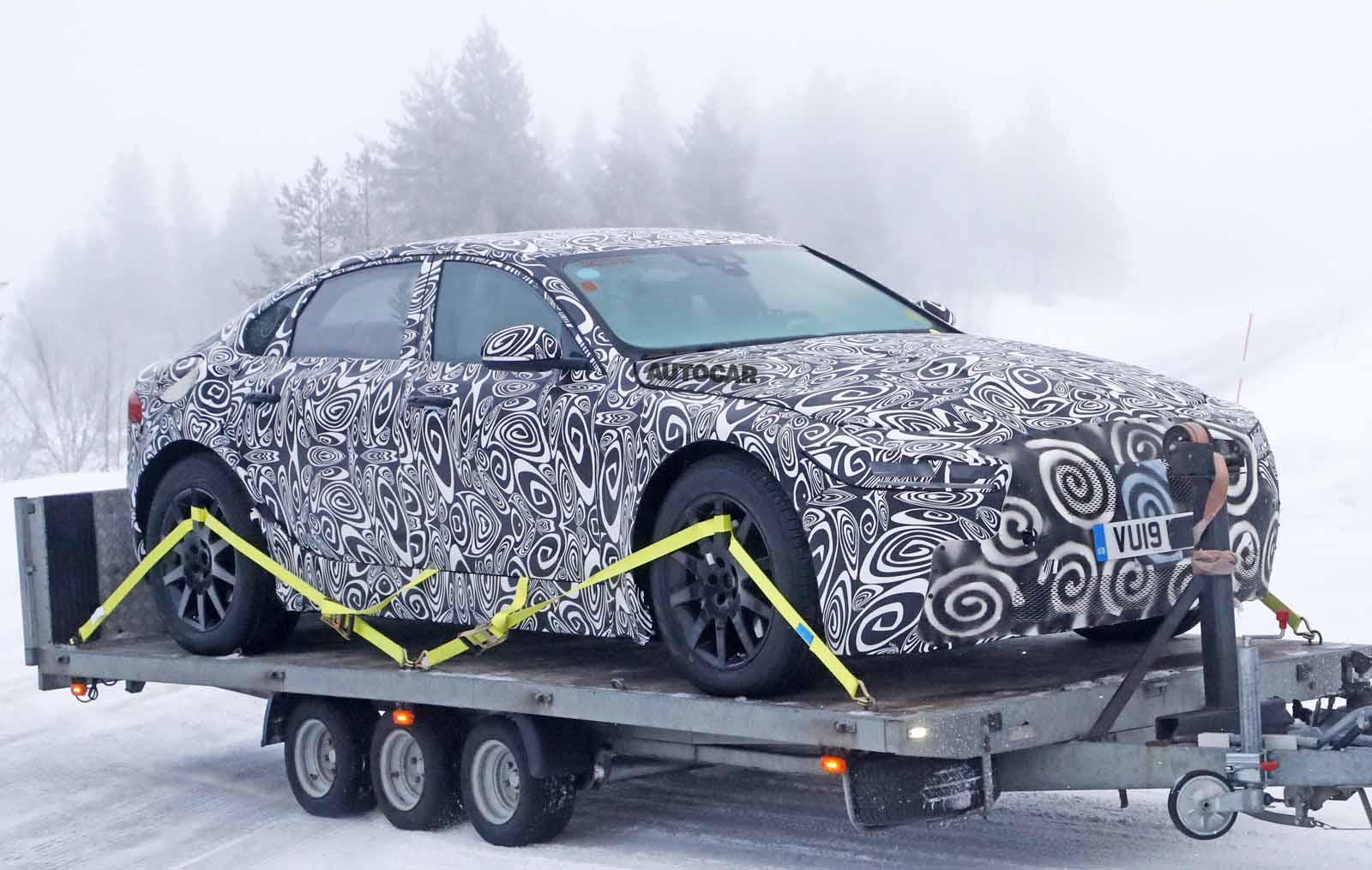 2020 Jaguar Xj Latest Images Reveal Electric Luxury Car S Look Autocar