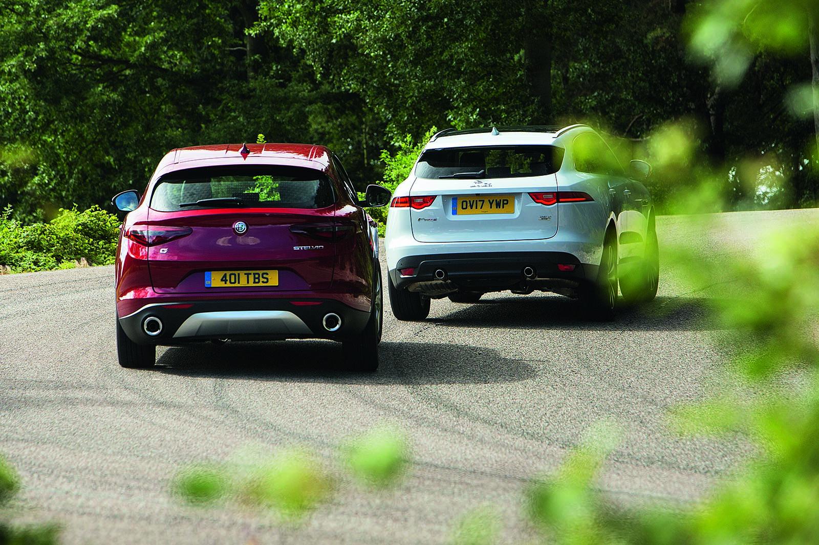 jaguar f-pace vs alfa romeo stelvio - sports suv twin test | autocar