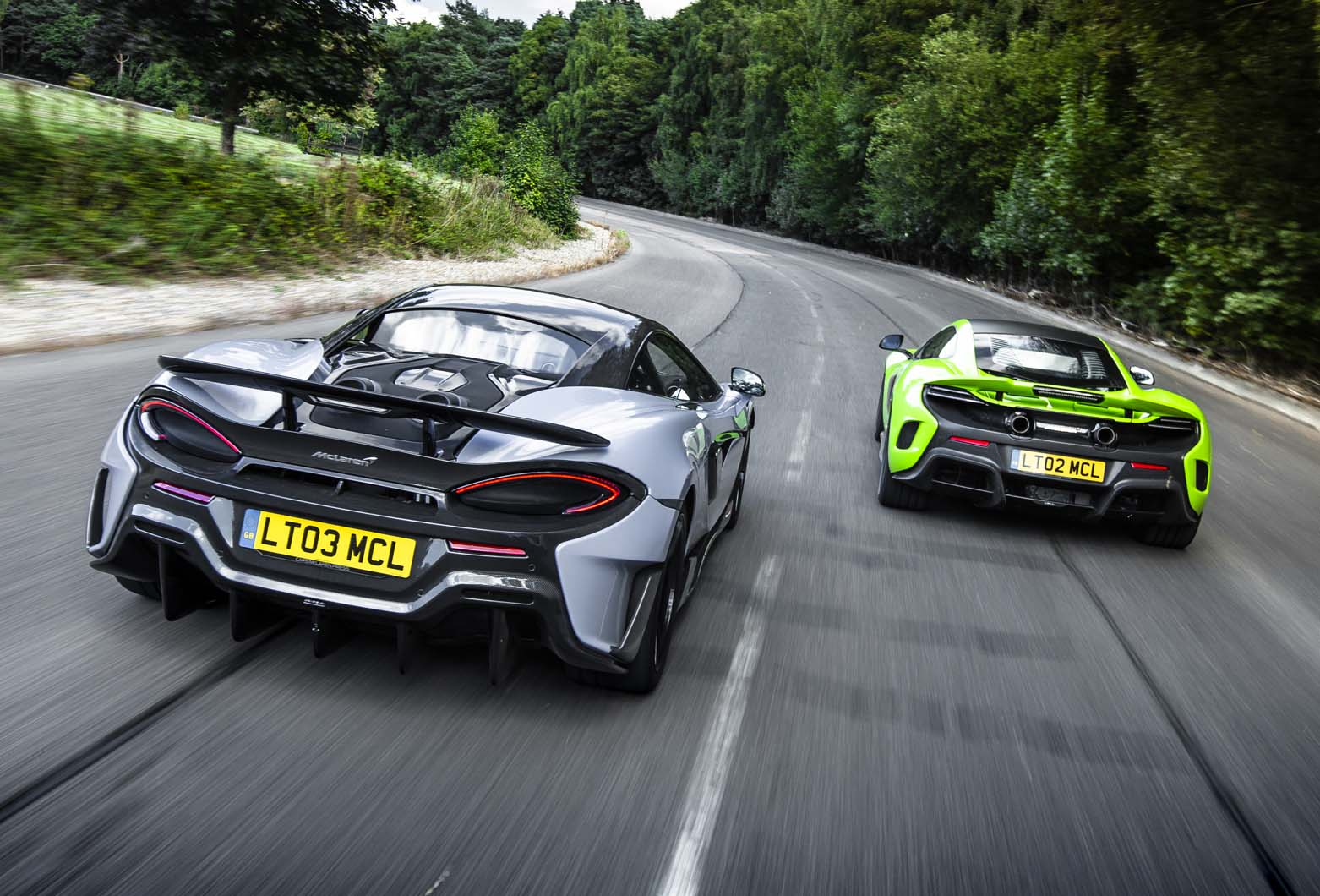 mclaren 600lt: on track at the hungaroring in 592bhp sports series