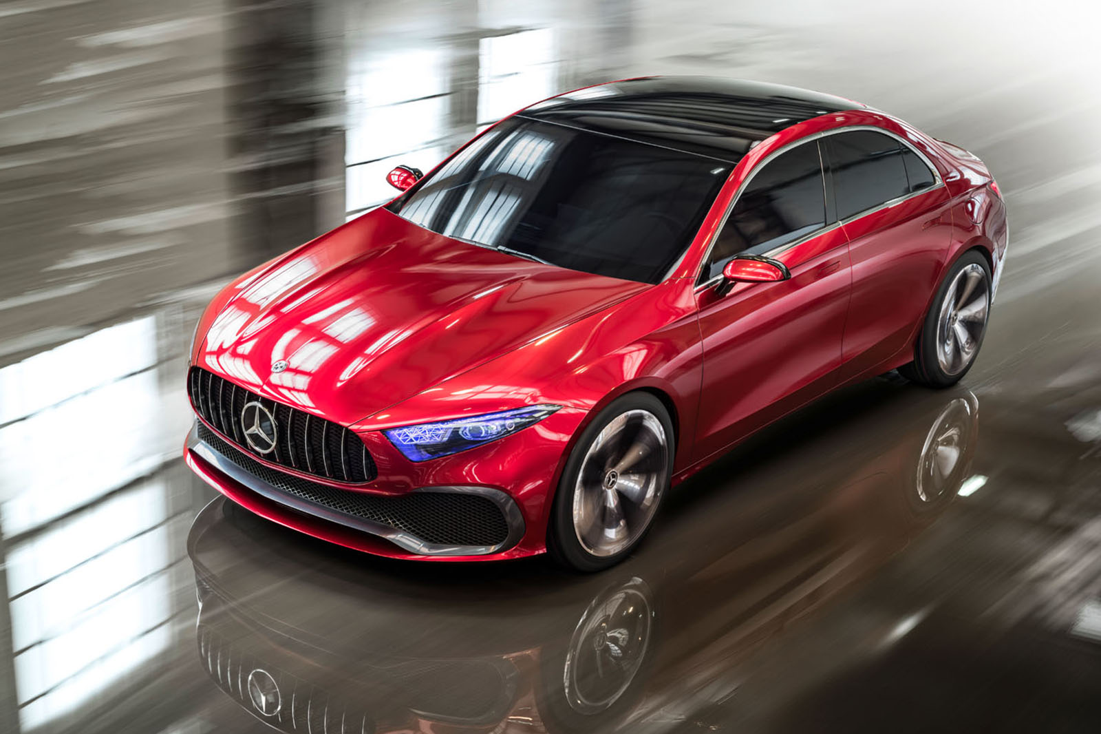 Mercedes Benz Concept A Saloon Brings The Fight To Bmw Audi Autocar