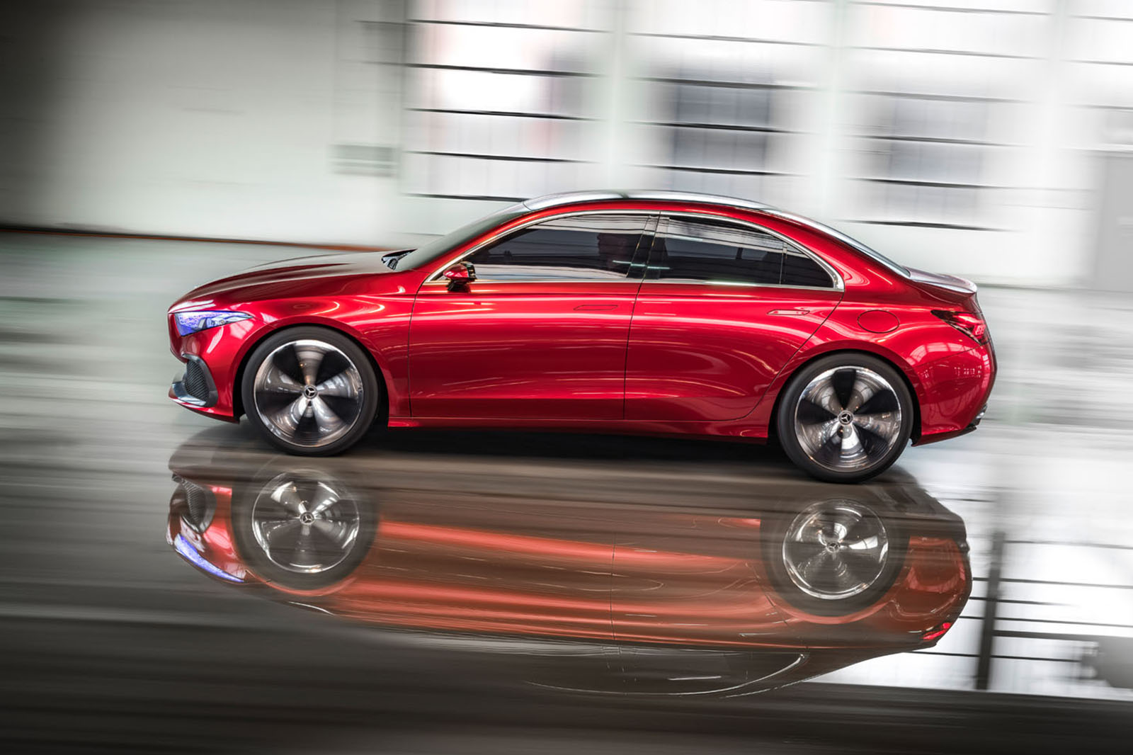 Mercedes benz concept a saloon brings the fight to bmw for Mercedes benz small car price