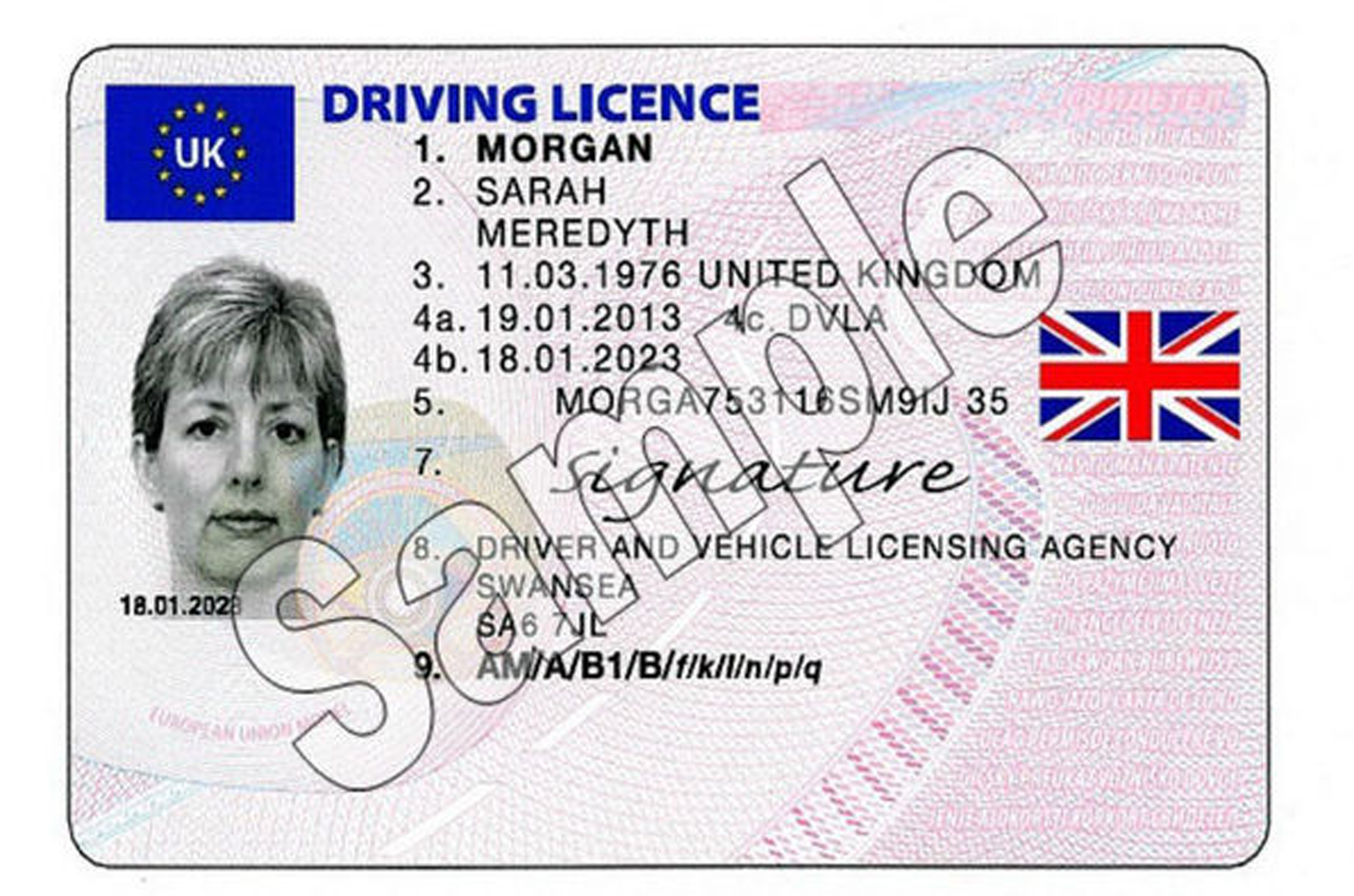 does drivers license number change uk