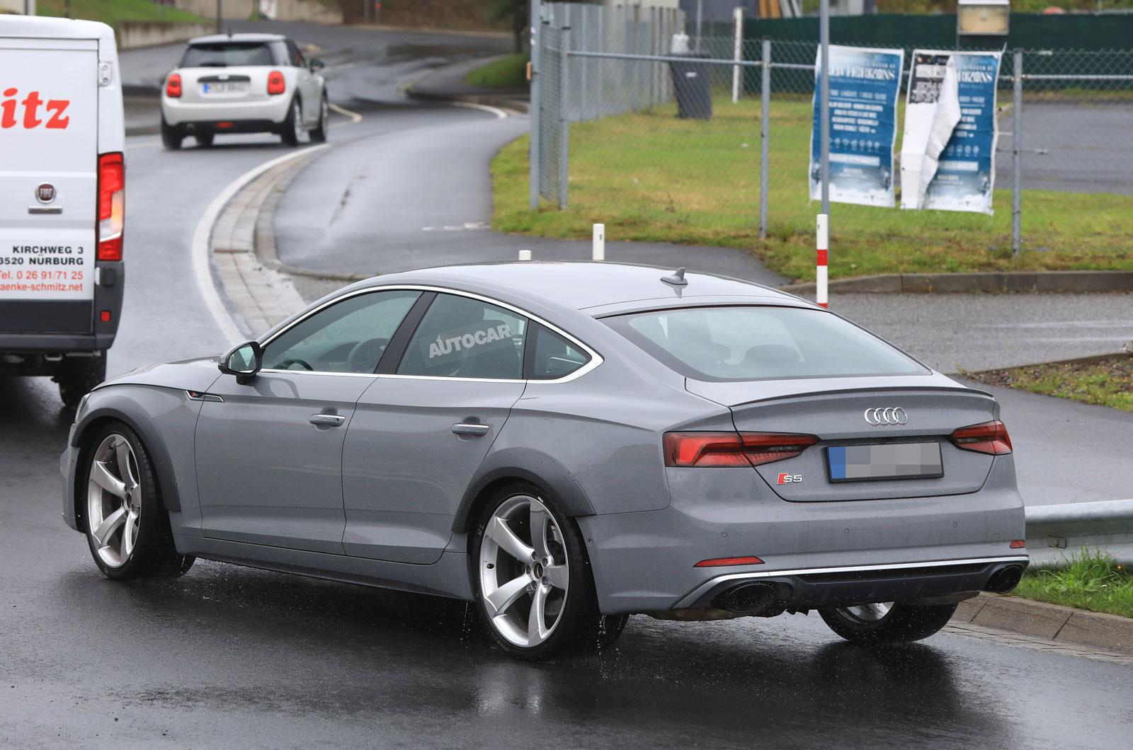 444bhp Twin Turbo V6 Powered Audi Rs5 Sportback Seen Testing Autocar