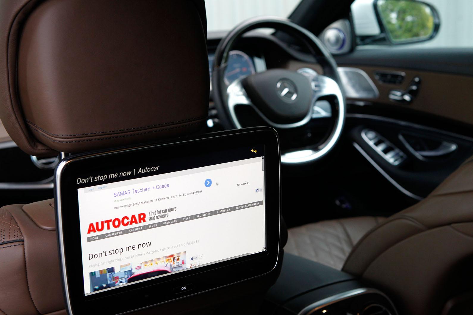 Mercedes benz s class design autocar for Mercedes benz rear seat entertainment system