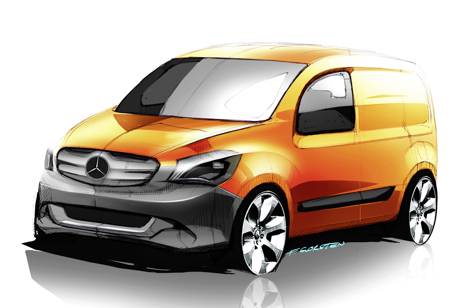 mercedes citan van revealed autocar. Black Bedroom Furniture Sets. Home Design Ideas