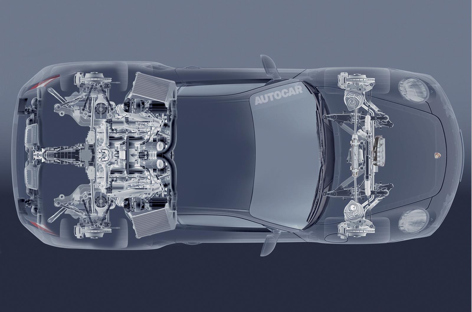 Конструкция Porsche 988 по версии Autocar