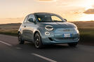 2021 Fiat 500 electric left-hand drive UK review - hero front