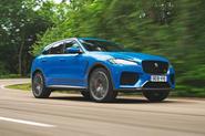 Jaguar F-Pace SVR 2019 road test review - hero front