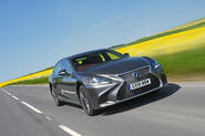 Lexus LS500h 2018 road test review hero front