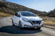 Nissan Leaf 2018 UK review hero front