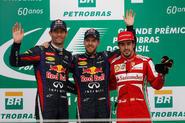 Vettel continues winning streak in Brazil