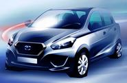 New Datsun hatchback shown in official sketches