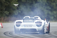 How we shot the P1 vs 918 vs bike video - from the sky