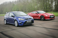 Ford Focus RS vs Nissan GT-R on video - plus five others