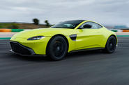 Aston Martin Vantage on the track front