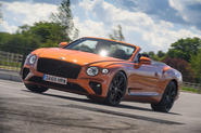 Bentley Continental GT Convertible V8 2020 UK first drive review - hero front