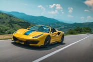 Ferrari 488 Pista Spider 2019 first drive review - hero action front