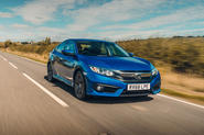 Honda Civic saloon 2018 UK first drive review hero front