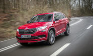 Skoda Kodiaq vRS 2019 UK first drive review - hero front