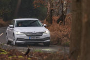 Skoda Superb IV 2020 UK first drive review - action front