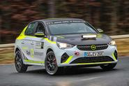 Vauxhall Corsa-e rally car sliding