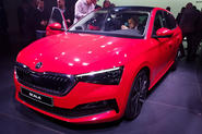 Skoda Scala official reveal stage front angle