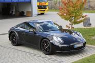 Porsche 911 hybrid spy picture