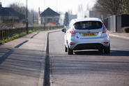 Learner driver in a Ford Fiesta - rear