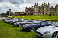 Lined up in front of Burghley House